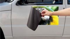 Imã com adesivo para carro