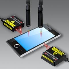 Sensores laser e óptico para medição sem contato