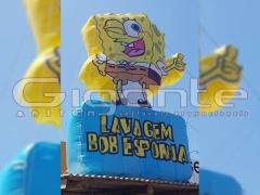 Mascote inflável - bob-esponja - 3m de altura