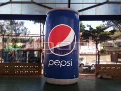 Réplica inflável lata de Pepsi - 4m de altura