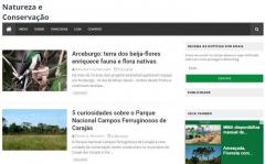 Página natureza e conservação, preservação ambiental e meio ambiente
