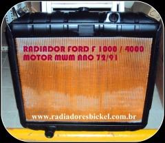 Radiadores bickel - radiador ford f 1000 f 4000 motor mwm