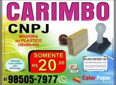 Carimbo cnpj madeira automático