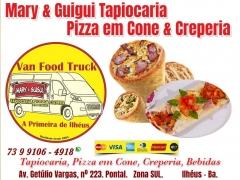 Tapiocaria pizza em cone & creperia em ilhéus. mary & guigui tapiocaria pizza em cone & creperia - bebidas av. getúlio vargas, nº 223. pontal.   zona sul.          ilhéus - ba. experimente a deliciosa pizza cone! a massa crocante e muuuuuito ... recheio vão te conquistar.  essa pizza é uma forma divertida e diferente de servir pizza.  -  visite nossa apresentação - https://uniaodemarca.wixsite.com/guiagastronomico/post/mary-guigui-tapiocaria-pizza-em-cone-creperia-em-ilh%c3%a9us