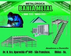 Bahia metal é uma empresa voltada para o mercado regional, desde 2006, onde nossa missão consiste na prestação de serviços através da fabricação de portões deslizantes, basculante ou pivotante, toldos em policarbonato ou lona, lixeiras artesanais, churrasqueiras, painéis e fachadas, estruturas metálicas, galpões, portas de enrolar, inox, vidros, etc.   produtos e serviços:   (73) 3086-2222 / 98853-2222 seg - sex 07:30 - 11:30 / 13:30 - 17:30 sab 8:00 - 12:00 contato@bahiametal.com.br
