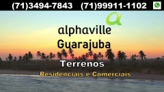 Alphaville Guarajuba, Terrenos Residenciais e Comerciais No Alphaville Guarajuba, em parceira com o Grupo Meliá, serão concebidos 168 terrenos, em uma área de 803.041 m², sendo 162 terrenos residenciais e 7 terrenos comerciais.  A data da entrega será em 2022, temos plantas e tabelas, venha escolher o seu terreno. oPeça o seu formulário de cadastro para que tenha preferência na escolha de seu terreno.  Características  oEstrada do coco - km 39 ao lado do Genipabu. oEntrega 2022 | 36 meses após o lançamento o161 lotes residenciais lote mínimo 750 metros com frente de 15, 17, 18 metros. o07 lotes comerciais lote mínimo de 2.000 m² (foco em restaurantes). oProjeto arquitetônico FGMF arquitetura em parceria com Benedito Abbud. oÁrea total da Gleba 803.041,25 m2 sendo 70% de área verde e 30% para ruas e lotes, com uma testada frente mar de 1.200 metros. oControle de acesso principal mais 2 portarias. oBeach club frente mar + praças e quadras o100% esgoto tratado oReservatório de água próprio oRede elétrica na área residencial subterrânea. oRede elétrica na avenida principal aérea. oAssociação de moradores compartilhada para os 02 bolsões. oOcupação do lote de 40% térreo mais 20% no 1 andar. oLotes ficam a 90 metros da linha pré mar por conta do Projeto Tamar.  Valores estimados:  oFrente mar R$1.500,00 por m² (48 lotes) o2ª faixa R$1.100,00 por m² (63 lotes) o3ª faixa R$690,00 por m² (56 lotes) oLote comercial R$750,00 por m² frente estrada do coco.  oLote comercial R$ 700,00 por m² no interior.  Condições de pagamento:  oEntrada 20% oAvista 10% de desconto oAté 36 meses correção oAcima de 36 meses juros + IPCA oPrazo pagamento até 96 meses  ?Lançamento foi realizado dia 20 de julho de 2019, vendas abertas.   Mais detalhes entre em contato com:  Claudio Borges - CRECI 22602 BA  +55(71)3494-7843 +55(71)99911-1102 WhatsApp