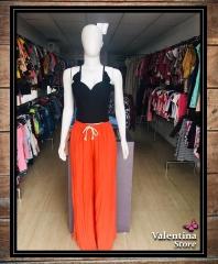 - Calça Pantalona R$59,90 + - Cropped Bengaline R$26,90