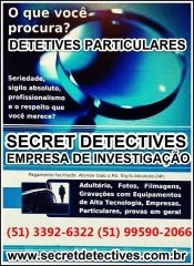 Detetives Porto Alegre-SECRET DETECTIVES f (51) 3224-1652 (51) 3224-0614 (51)  98475-1376 - Foto 1