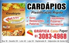 Cardapio - gráfica - valparaiso de goias