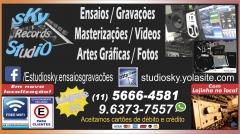 Sky records studio - ensaios/gravaÇÕes/masterizaÇÕes/vídeos/artes gráficas
