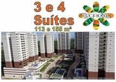 Parque Tropical, Apartamentos 3 e 4 quartos e Coberturas, Salvador Apartamentos com 3 suítes, com 113,77 m² e varanda; e apartamentos com 4 suítes, com 155,95 m² e 2 varandas, coberturas nas torres com 4 suítes.Venha conferir pessoalmente e marque sua visita agora!!!!! Mais detalhes entre em contato: Claudio Borges   CRECI 22602 BA  (71)3494-7843 (71)99911-1102 WhatsApp