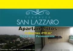 Terrazzo San Lazzaro, Apartamentos 4 suítes, São Lazaro, Federação, Salvador Terrazzo San Lazzaro, um empreendimento de alto luxo, com 4 quartos sendo todos suítes, em 210,95m² de área privativa e uma vista deslumbrante para o mar. O empreendimento está construído em um terreno com 4.333,05m², localizado no bairro de São Lázaro, uma parte tranquila da Federação. São 63 apartamentos de quatro suítes e uma cobertura distribuídos em 32 andares, sendo que cada um deles com 4 vagas de garagem.Venha conferir pessoalmente e marque sua visita agora!!!!! Mais detalhes entre em contato: Claudio Borges   CRECI 22602 BA  (71)3494-7843 (71)99911-1102 WhatsApp