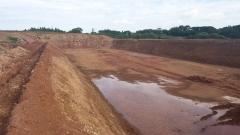Topografia lagoas descarte efluentes cooperativa agrária