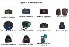 Artigos de montaria em touro - bolsa e mochila