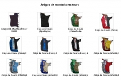 Artigos de montaria em touro - calça de couro - charrão
