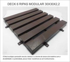 Deck modular plastico para áreas internas ou externas