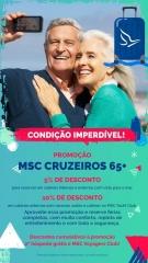 Msc cruzeiros promoção + 65 - vijac turismo