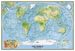 Mapa do mundo físico decorativo - national geographic