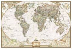 Mapa do mundo político executivo - national geographic