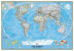 Mapa do mundo político classic - national geographic