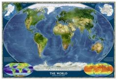 Mapa do mundo físico satélite - national geographic