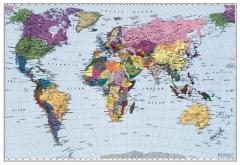 Mapa Mundial Político Style - Komar