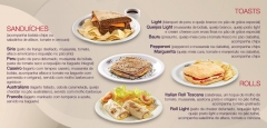 Sanduíches, rolls e toasts