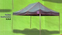 Alguns modelos de tendas