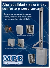 Ao adquirir os movimentadores de port�o eletr�nicos mpe, voc� ter� em suas m�os, um dos mais seguros sistemas de automatizadores desenvolvidos no brasil.