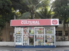 Frente externa da revistaria cultural