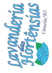 Logo da lavanderia das hortênsias - canela/rs
