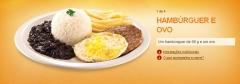 Hambúrguer e ovo