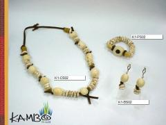 Conjunto 02 | jarina, pedra, bambú e couro