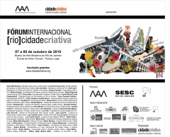 Forum rio cidade criativa - mam-rj - outubro/2010
