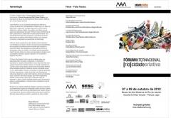Forum rio cidade criativa - mam-rj - out/2010