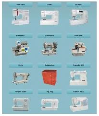 Grande variedade em máquinas de costura