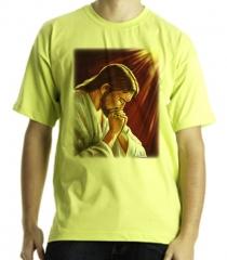 Camiseta estampa jesus cristo meditando quadricromia