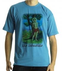 Camiseta estampa são sebatião quadricromia