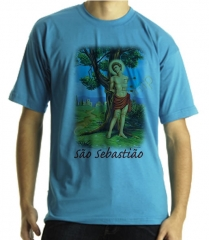 Camiseta estampa s�o sebati�o quadricromia