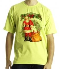 Camiseta estampa papai noel em puff quadricromia