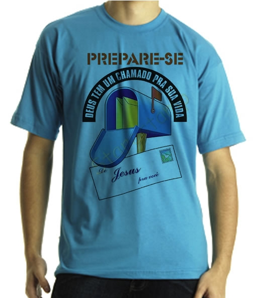 Camiseta Estampa Tema Evang�lica Chamdo