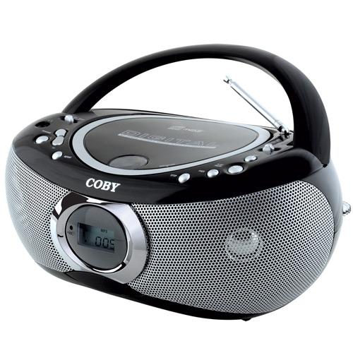 TOCA DISCOS MP3/CD PORTÁTIL COM RÁDIO AM/FM ESTÉREO - conheça outros modelos de RÁDIOS, inclusive com visor e/ou sintonia digital, portáteis, micros, toca-CD, gravadores, etc