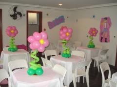 Salão decorado barbie  verão