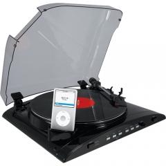 Toca-discos vinil com diferenciadas op��es em grava��o digital: conversor sd,usb - para pc-mac-mp3 - entrada sd, psp, pda - entrada auxiliar (ex: fita cassete) + pen drive via usb