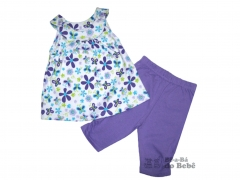 Conjunto regata playwear floral borboleta
