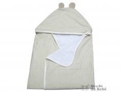Toalha de banho com capuz - fralda - algodão orgânico