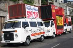 Mini trios, carros de som para propagandas - gff propagandas e eventos