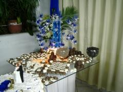 Mesa de chocolate decorada