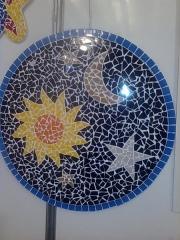 Mandala mistica medindo 80cm de diamentro