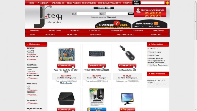 Loja virtual em .ASP, com vários recursos